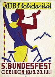 Monogramm M.T. - Bundesfest Oerlikon