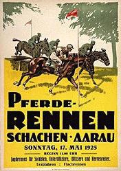 Anonym - Pferde-Rennen Aarau
