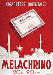 Anonym - Melachrino Cigarettes orientales