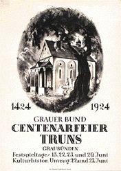 Baumberger Otto - Centenarfeier Truns