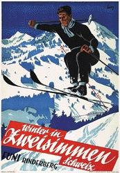 Gfeller Werner - Winter in Zweisimmen