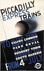 McKnight-Kauffer Edward - Piccadilly Express Trains