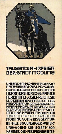 Czeschka Carl Otto - Tausendjahrfeier