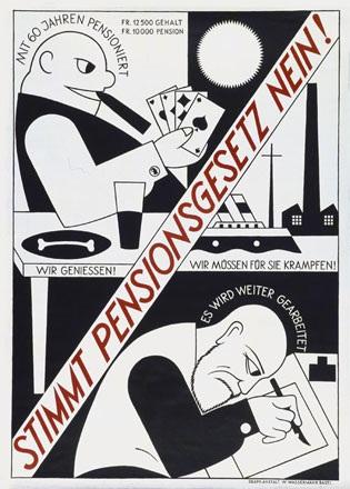 Stoecklin Niklaus - Pensionsgesetz Nein