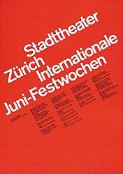 Müller-Brockmann Josef - Juni-Festwochen