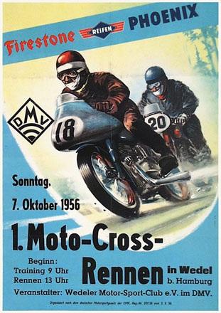 Anonym - Moto-Cross-Rennen
