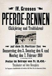 Anonym - Pferde-Rennen St. Moritz