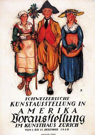 Baumberger Otto - Schweizerische Kunstausstellung in Amerika