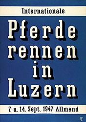 Monogramm Kru. - Pferderennen Luzern