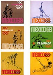Anonym - Olympische Spiele Mexico (6 Plakate)