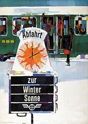 Wetli Hugo - SBB - Abfahrt zur Wintersonne