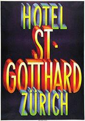 Bickel Karl - Hotel St. Gotthard Zürich