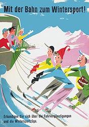 Gusset Paul - Mit der Bahn zum Wintersport!