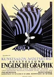 Wadsworth Edward - Ausstellung Englische Graphik