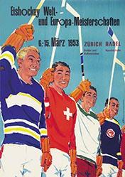Portmann Hannes - Eishockey Welt- und Europa-Meisterschaft