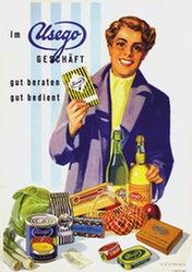 Wüthrich Fritz - Im Usego Geschäft