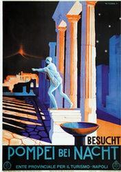 Riccobaldi Giuseppe - Besucht Pompei bei Nacht
