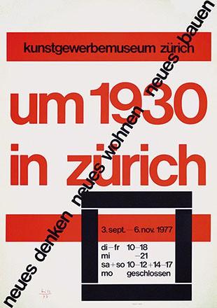 Bill Max - Um 1930 in Zürich