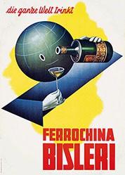 Boccasile Gino - Ferrochina Bisleri