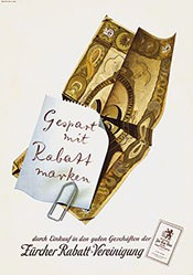 Leupin Herbert - Gespart mit Rabattmarken