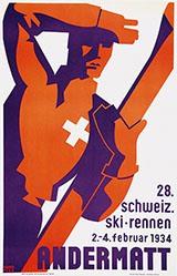 Rick Numa (Rickenbacher Walter) - Schweiz. Ski-Rennen