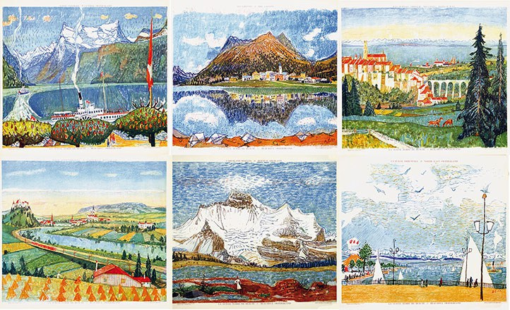 Carigiet Alois - Konvolut von 6 Plakaten