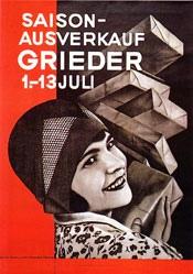 Brunner Propaganda - Saison-Ausverkauf Grieder