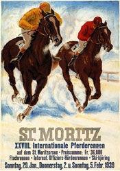 Laubi Hugo - Pferderennen St. Moritz