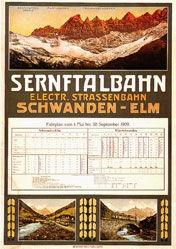Anonym - Sernftalbahn - Electr. Strassenbahn
