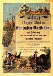 Monogramm F.S.W. - 1. Singvogel-, Geflügel und