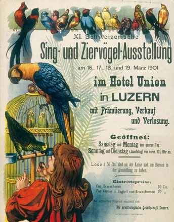Anonym - Sing- und Ziervögel-Ausstellung