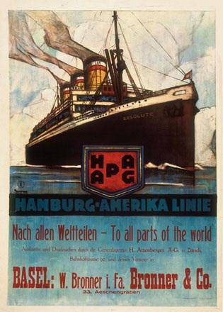 Anton Ottomar - Hamburg-Amerika Linie