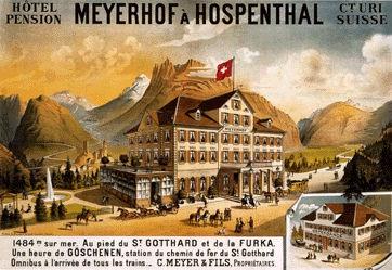 Anonym - Meyerhof à Hospenthal