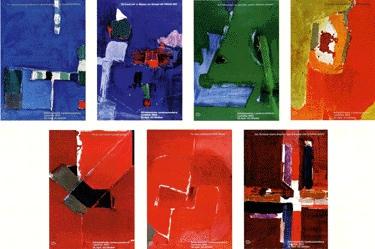 Falk Hans - Expo-Serie (Serie von 7 Plakaten)