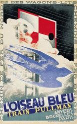 Cassandre A.M. - L'oiseau bleu - Train Pullmann