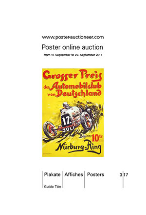 Auction brochure inside Vintage Poster Auction 3/17