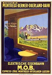 Monogramm F.W. B - Elektrische Eisenbahn - MOB