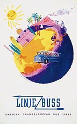 Brun Donald - Linje Buss
