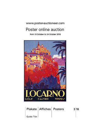 Auction brochure inside Vintage Poster Auction 3/18