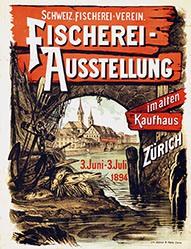 Anonym - Fischerei-Ausstellung im alten Kaufhaus Zürich